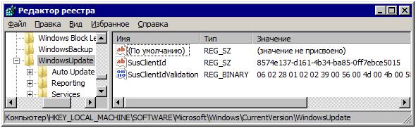 WSUS SusClientId Registry