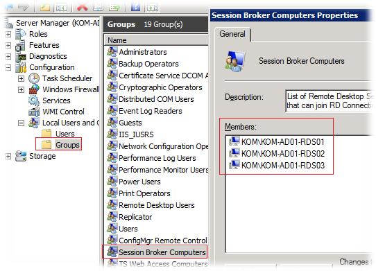 Remote desktop connection broker weight