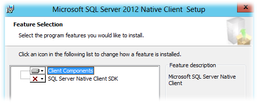 Установка Microsoft Sql Server Native Client