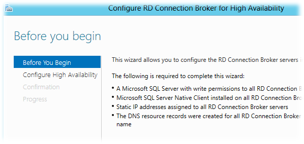 Rd connection broker with nlb