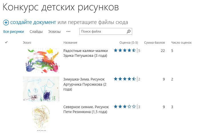 список рисунков: