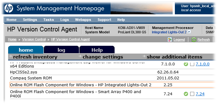 Раздаём свежую прошивку iLO2 v2 27 на серверы HP ProLiant DL360/380