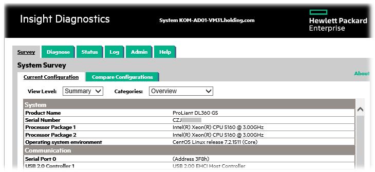 Настройка CentOS Linux 7 2 на сервере HP ProLiant DL360 G5