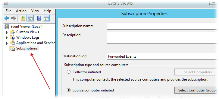 Windows Event Subscriptions for Zubbix