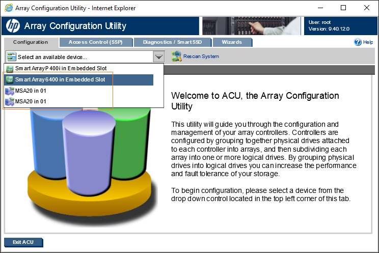 CentOS Linux 7 2 и HP Array Config Utility (ACU) для