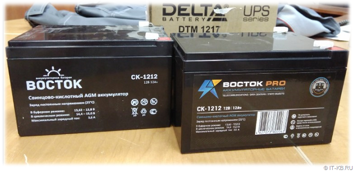 Russian UPS battery VOSTOK