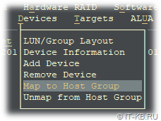 ESOS Devices - Map to Host Group
