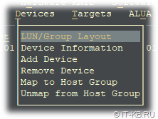 ESOS Devices - LUN Group Layout