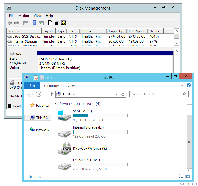 Windows Server iSCSI Disk