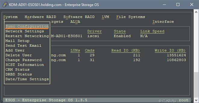 ESOS Sync configuration to new USB-drive