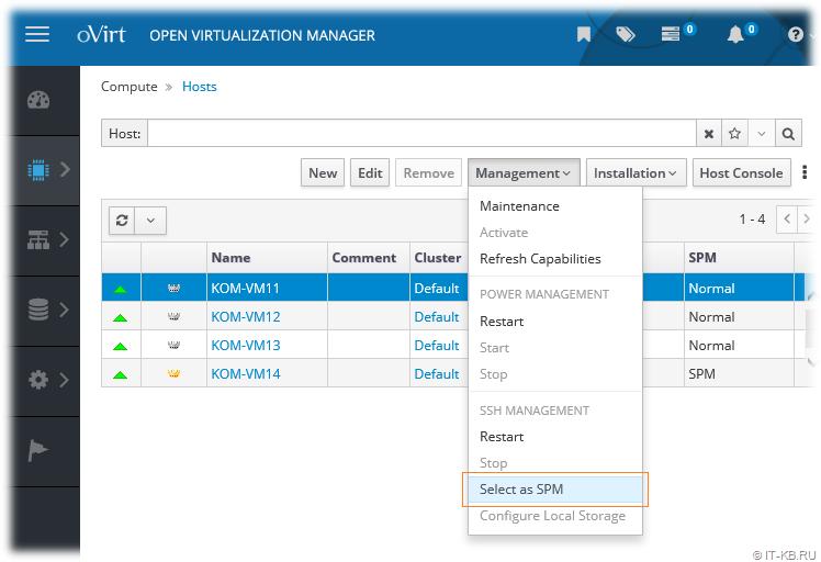 oVirt 4.2.5 Failed to force select host as the SPM