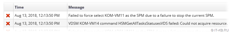 Failed to force select host as the SPM due to a failure to stop the current SPM