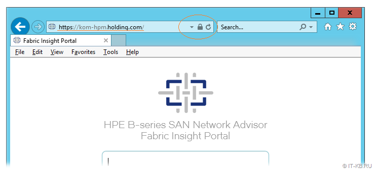 HPE B-series SAN Network Advisor Fabric Insight Portal