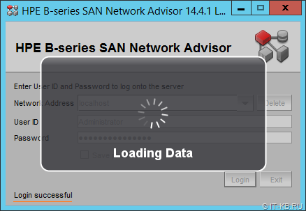 HPE B-series SAN Network Advisor Login