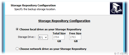 Vembu BDR Backup Server Installation Storage Repository