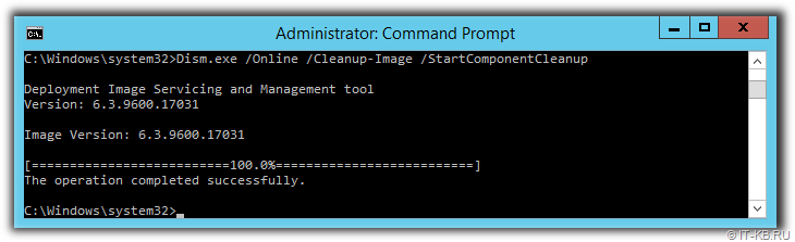 WinSxS Dism.exe Windows Component Cleanup