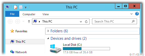 Fresh installed Windows Server 2012 R2 System Disk after Dism.exe Windows Component Cleanup and ResetBase