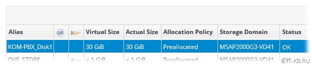 oVirt Administration Portal Storage Domain Start Upload Status OK