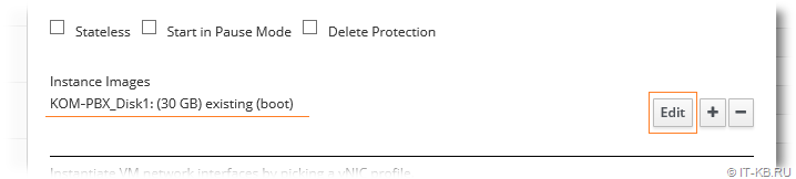oVirt Administration Portal VM Settings Edit Disk Images