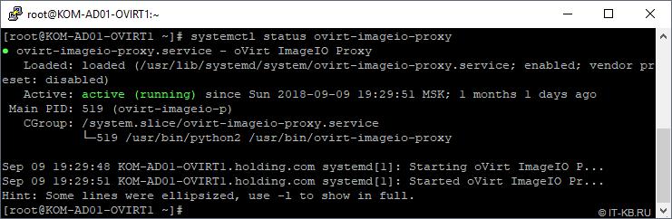 systemctl status ovirt-imageio-proxy