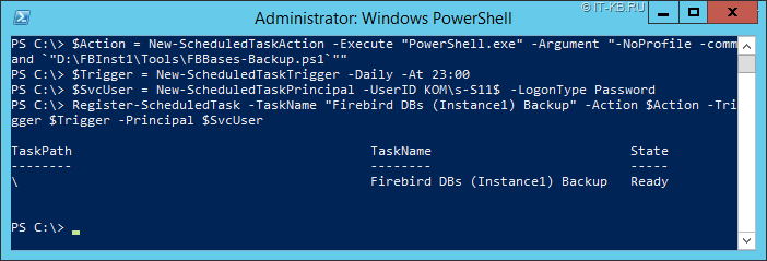 Register New Scheduled Task for gMSA account with PowerShell