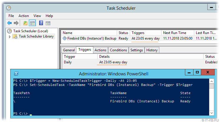 Edit Scheduled Task for gMSA account with PowerShell