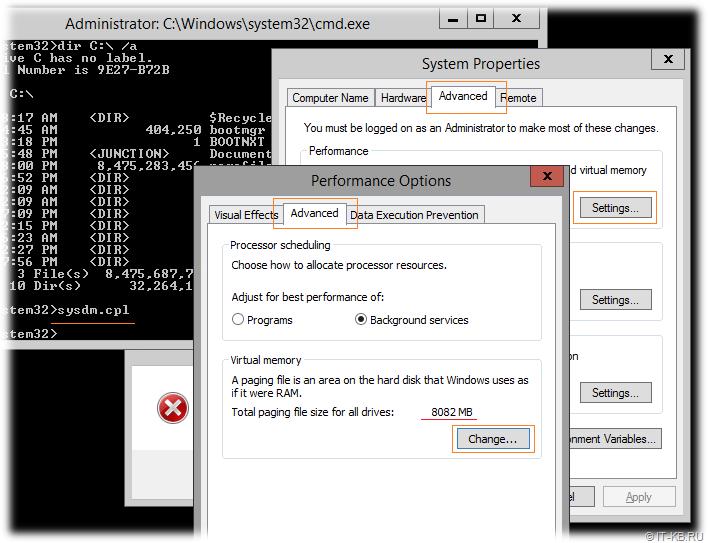Windows Virtual memory pagefile settings