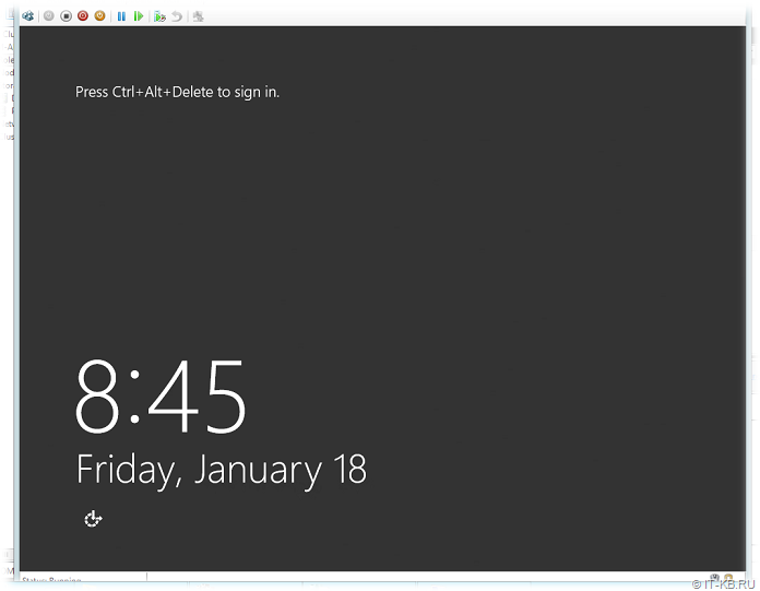 Windows Server 2012 R2 start after Sysprep