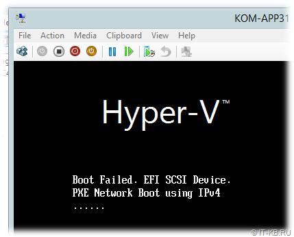 Linux Hyper-V VM Boot Failed. EFI SCSI Devices