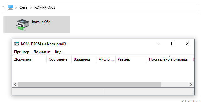 Windows 10 connectrd to Print Server by CNAME DNS alias