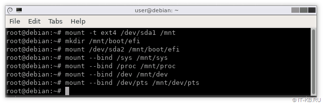 mount system dirs for chroot