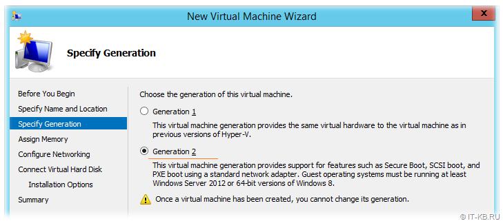 Create Hyper-V Generation 2 VM