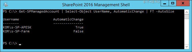 SharePoint 2016 Managed Accounts with Automatic Password Change in PowerShell