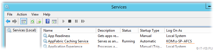 AppFabric Caching Service Dedicated SharePoint Managed Account