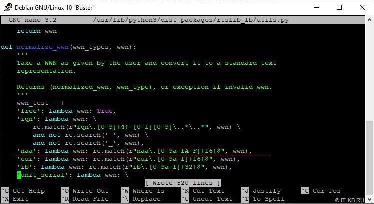 targetcli WWN check utils.py code