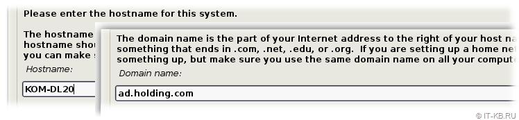 Debian Buster Installation - Configure hostname