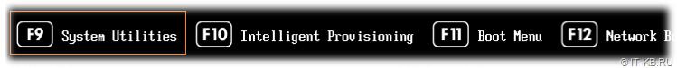 HPE ProLiant Gen10 run System Utilities on server boot