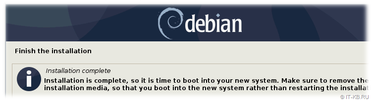 Debian Buster Finish Installation